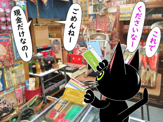 駄菓子屋さんはカード不可.jpg